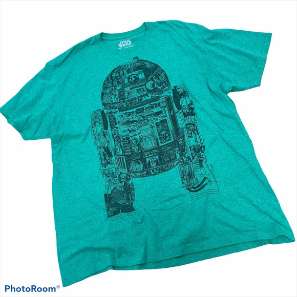 Star Wars Epic R2-D2 Panel Graphic T-Shirt XL